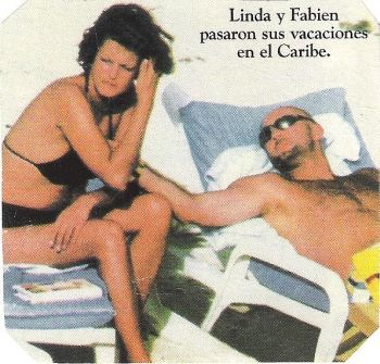 linda evangelista and fabien barthez photo