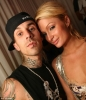 travis barker and paris hilton image