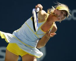 A Forehand Drive in Tennis
