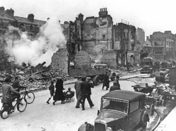 How did Britain get drawn into the Second World War?
