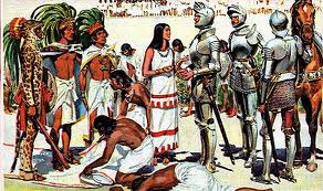 How did the Spanish defeat the Incas and the Aztecs?