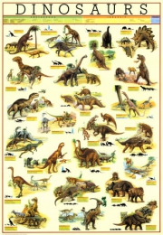 How many different types of dinosaur were there?