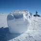 How thick is the ice at the South Pole?