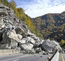 What is a rockslide?