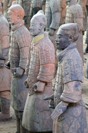 Who made the terracotta warriors?