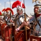 Why did the Romans abandon most of their empire?