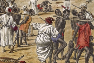 Why was the slave trade established?
